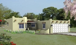 Santa-Fe Style Home Design Plan: 41-306