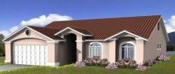 Mediterranean Style Home Design Plan: 41-346