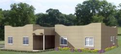 Santa-Fe Style Home Design Plan: 41-366
