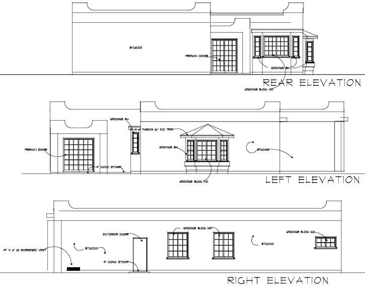 Rear Elevation Plan: 41-405