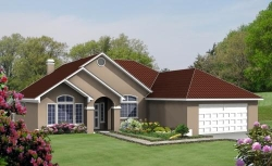 Southwest Style Home Design Plan: 41-473