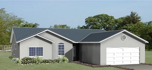 Ranch House Plan - 4 Bedrooms, 2 Bath, 1750 Sq Ft Plan 41-536 on