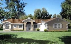 Southwest Style Home Design Plan: 41-609