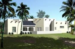 Santa-Fe Style Home Design Plan: 41-674