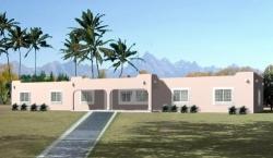 Santa-Fe Style Home Design Plan: 41-703