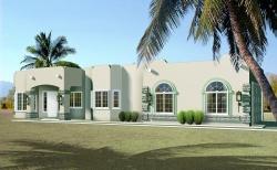 Santa-Fe Style Floor Plans Plan: 41-710