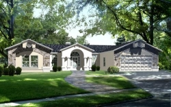Southwest Style House Plans Plan: 41-738