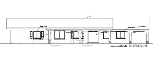 Rear Elevation Plan: 41-981