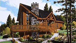 Mountain-or-Rustic Style Floor Plans Plan: 43-113