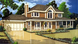 Southern Style Home Design 43-118