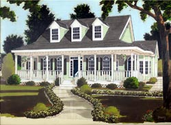 Country Style Floor Plans 43-128
