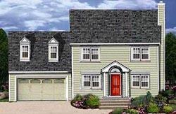 Cape-Cod Style Floor Plans Plan: 43-132