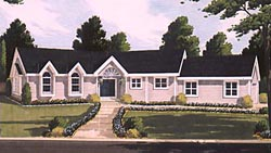 Traditional Style Home Design Plan: 43-141
