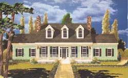 Country Style Home Design Plan: 43-160