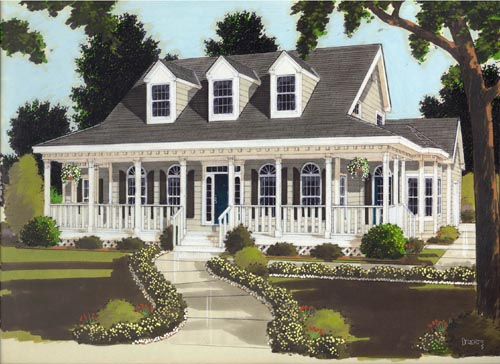 Country Style Floor Plans Plan: 43-171