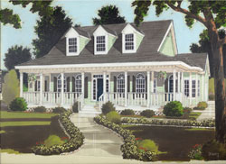 Country Style Floor Plans Plan: 43-194