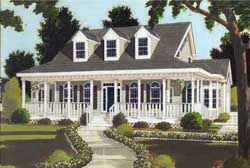 Country Style Floor Plans Plan: 43-211