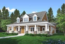 Modern-Farmhouse Style House Plans Plan: 43-223