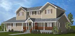 Colonial Style Home Design Plan: 43-225