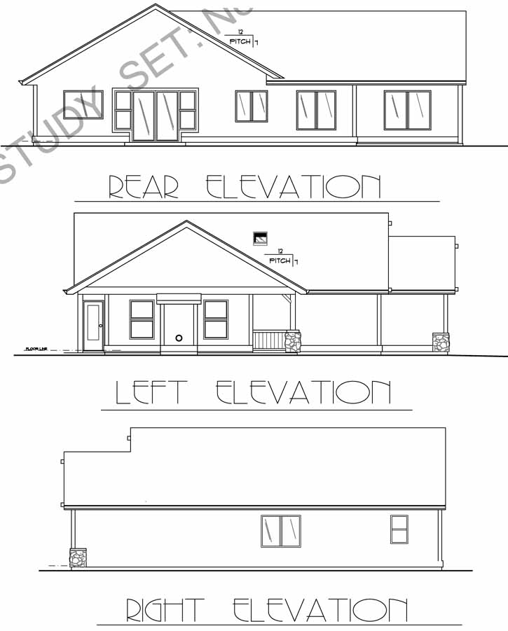 Rear Elevations Plan:44-105