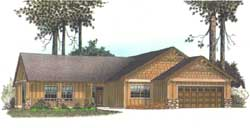 Craftsman Style Floor Plans 44-105