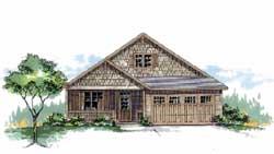 Craftsman Style Home Design Plan: 44-458