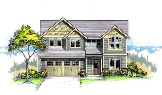 Craftsman Style Floor Plans Plan: 44-460