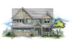 Craftsman Style Home Design Plan: 44-461