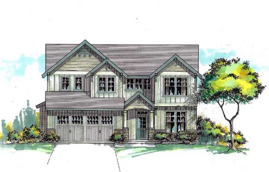 Craftsman Style Floor Plans Plan: 44-462