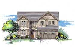 Craftsman Style Home Design Plan: 44-468