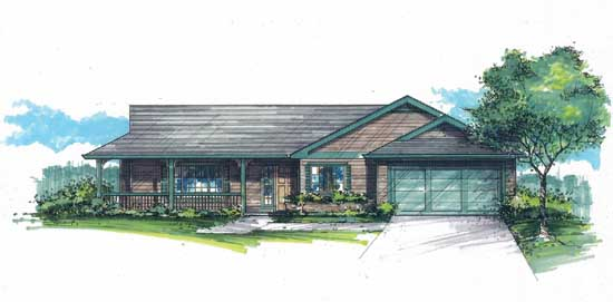 Farm Style House Plans Plan: 44-469
