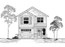 Craftsman Style Home Design Plan: 44-477