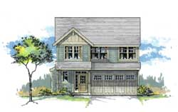 Craftsman Style Home Design Plan: 44-478