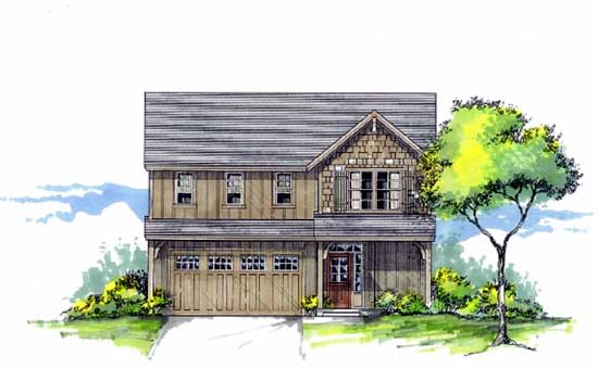 Craftsman Style Home Design 44-483