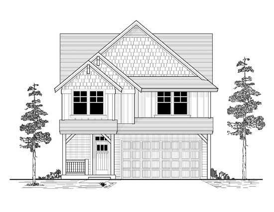Craftsman Style Floor Plans Plan: 44-486