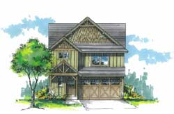 Craftsman Style Floor Plans Plan: 44-488
