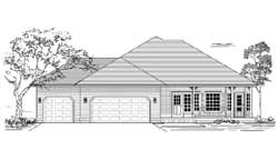 Ranch Style House Plans Plan: 44-491