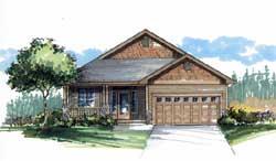 Craftsman Style Floor Plans Plan: 44-492