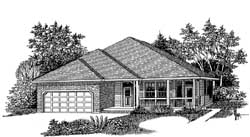 Ranch Style Home Design Plan: 44-493