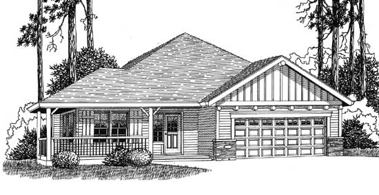 Ranch House Plan - 3 Bedrooms, 2 Bath, 1705 Sq Ft Plan 44-494 on small house plans with 3 bedrooms, garage apartment plans with 3 bedrooms, ranch home plans with 4 bedrooms,