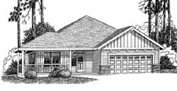 Ranch Style House Plans Plan: 44-494
