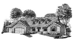 Ranch Style Home Design Plan: 44-497