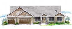 Craftsman Style House Plans 44-499