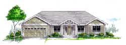 Craftsman Style Home Design Plan: 44-500