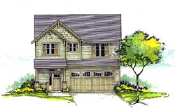 Craftsman Style Home Design Plan: 44-501