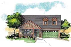 Country Style Floor Plans Plan: 44-504