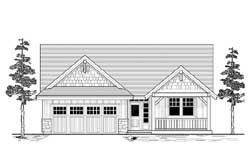 Northwest Style Home Design Plan: 44-505