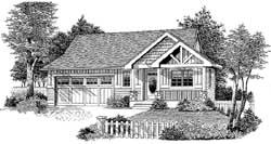Craftsman Style Floor Plans Plan: 44-507