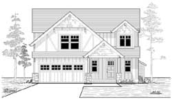 Craftsman Style Floor Plans Plan: 44-509