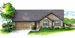 Ranch Style Floor Plans Plan: 44-515